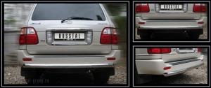 Lexus LX 470 защита заднего бампера  d63 LXZ-000557